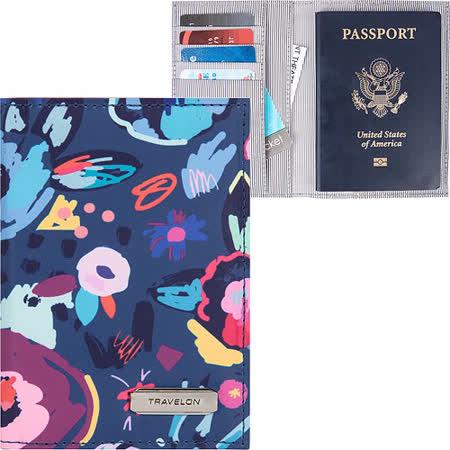 《TRAVELON》兩折式護照夾(花藝)