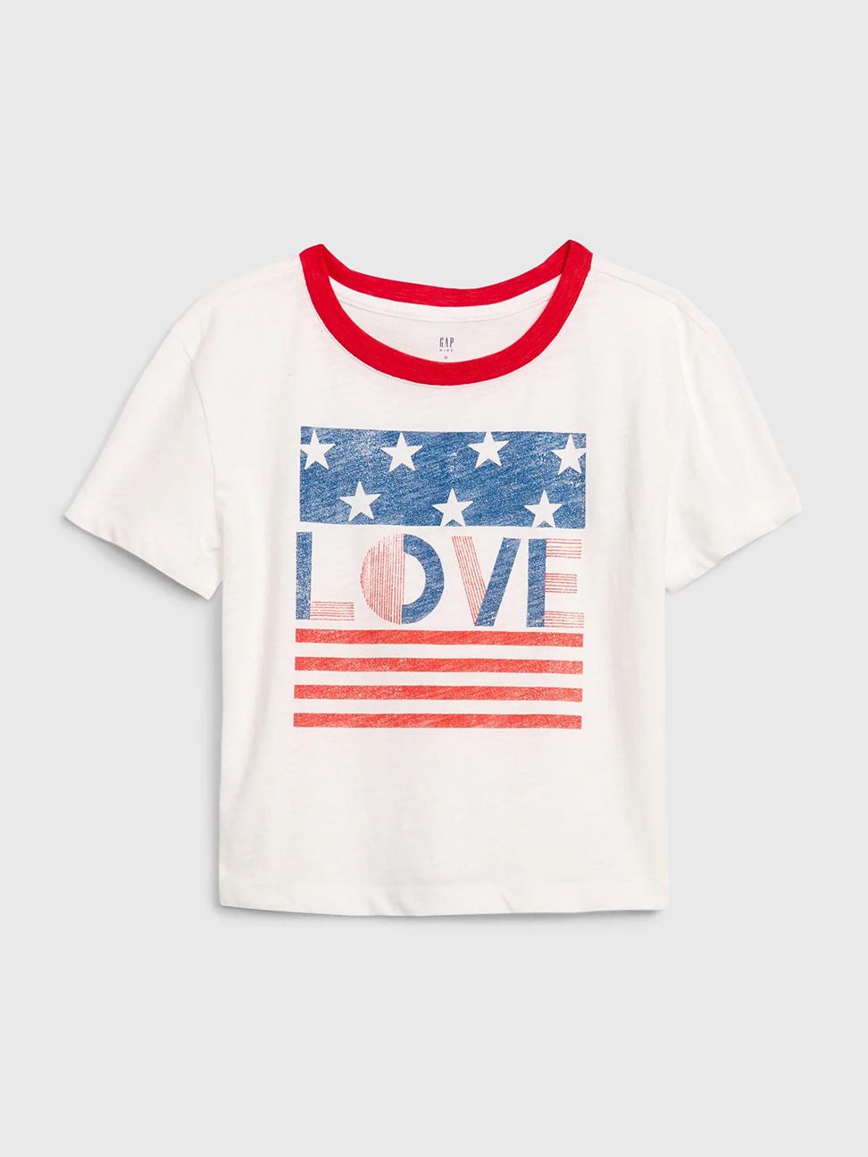 女童 Gap x Disney迪士尼系列印花圓領短袖T恤