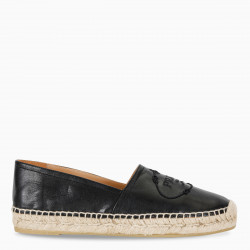 Prada Black leather espadrillas