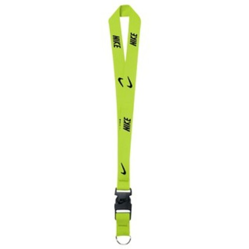 Nike Lanyard [NIA17710NS] 多功能 識別證帶 手機帶 耐用 舒適 可拆 螢黃 黑