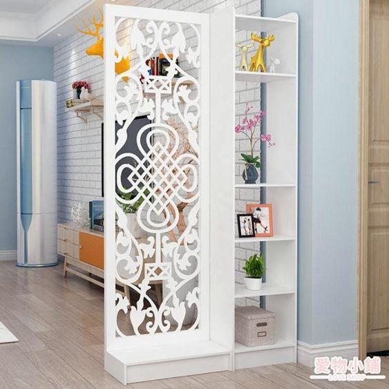 屏風 現代中式簡約家具時尚屏風隔斷客廳臥室餐廳鏤空座屏玄關風隔斷柜