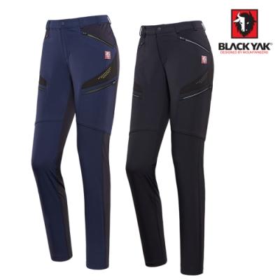 【BLACKYAK】女CORDURA多口袋彈性長褲[深藍色/黑色]