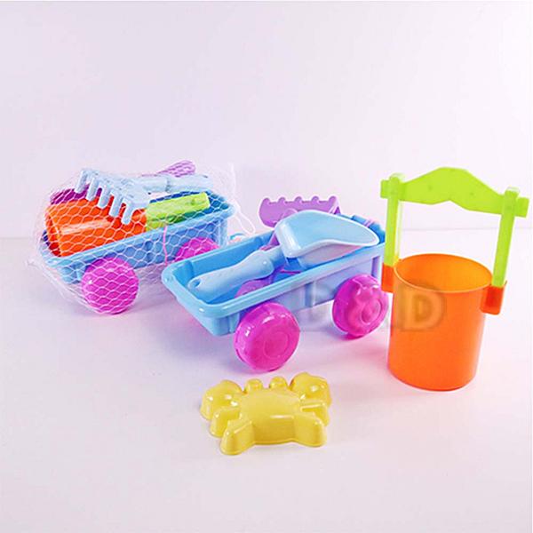 《 KIDMATE 》沙灘桶+小拖車(5pcs) / JOYBUS玩具百貨