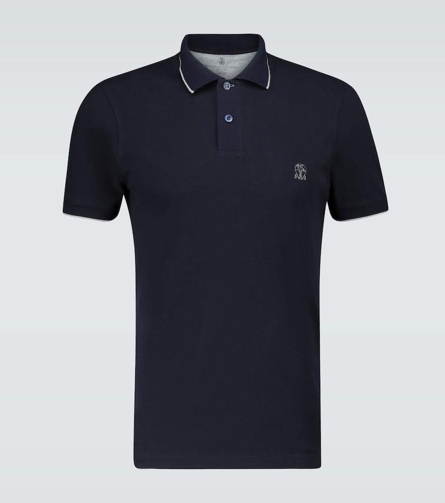 Slim-fit short-sleeved polo shirt