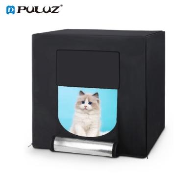 PULUZ 雙向調整 LED 攝影棚 含六色背景 60X60cm 移動式攝影棚