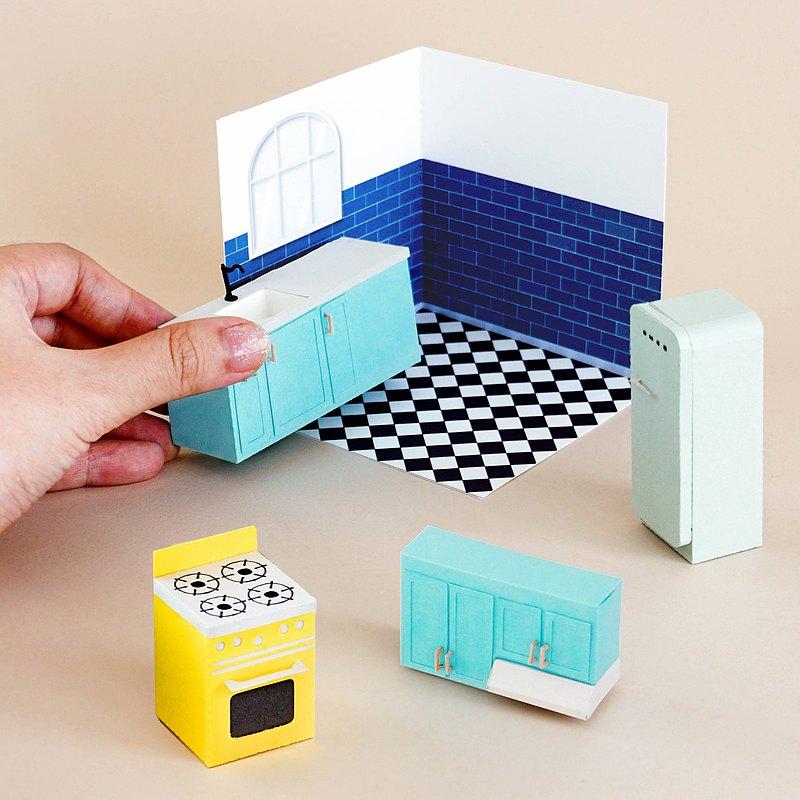 DIY廚房紙模型套件