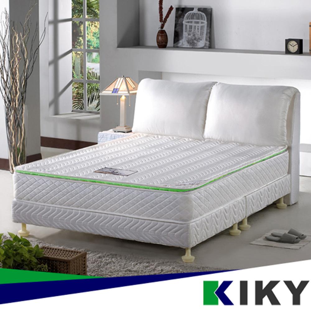 【KIKY】二代法式森呼吸養身備長炭獨立筒床墊 單人加大3.5尺