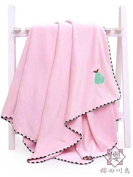兒童浴巾家用嬰兒可用浴巾柔軟強吸水【櫻田川島】