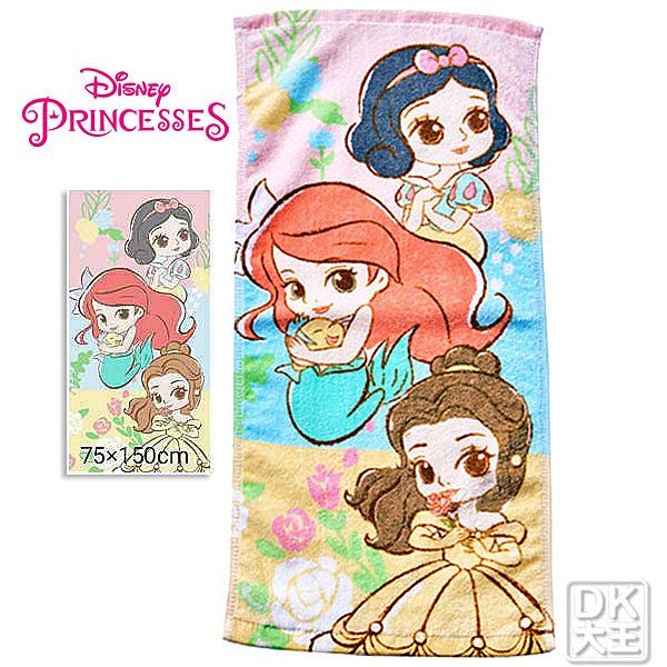 迪士尼 公主系列大浴巾 貝兒 白雪公主 小美人魚~DK襪子毛巾大王