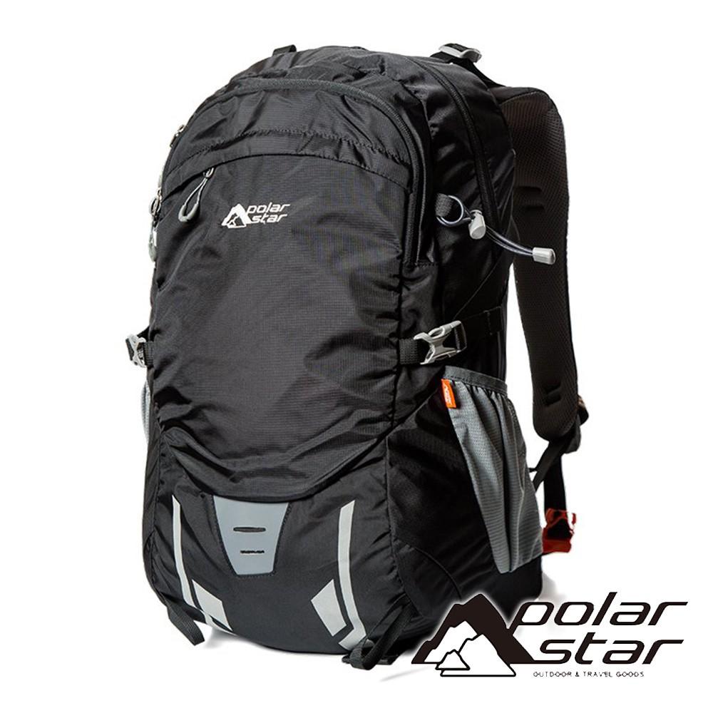 【PolarStar】透氣網架背包30+5L『黑色』P18745