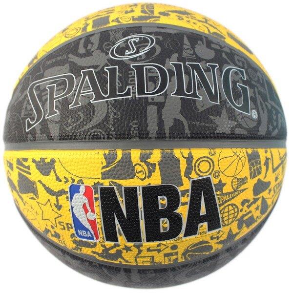 SPALDING 斯伯丁彩色籃球 NBA塗鴉系列/一個入(特720) 7號籃球 NBA籃球 SPA83499 室外內通用耐磨籃球-群16103R