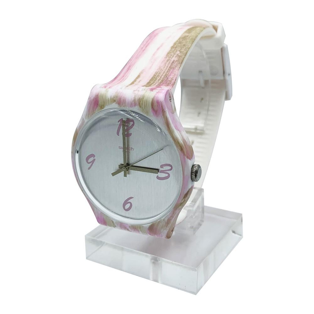 Swatch PINKQUARELLE 腕錶 手錶 粉 SUOW151
