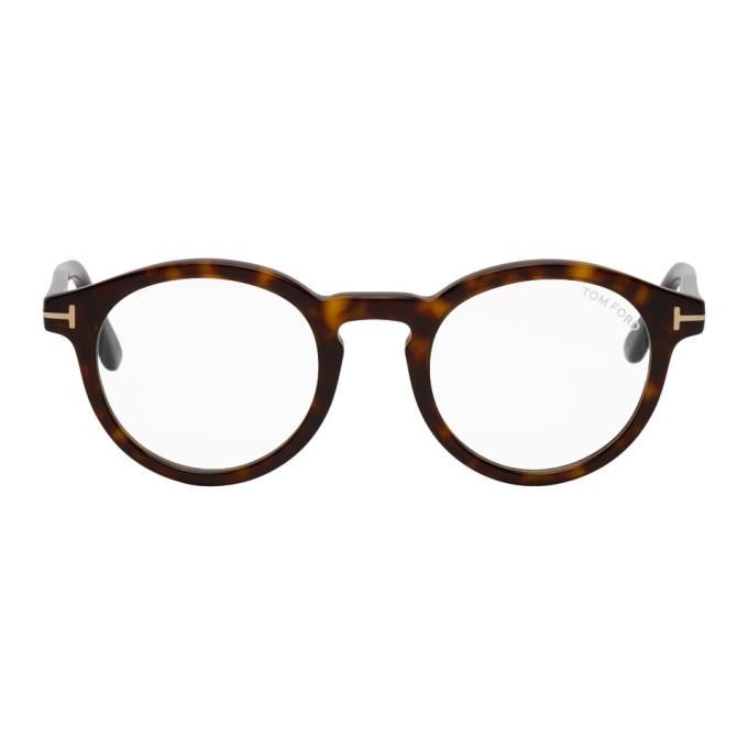 Tom Ford 玳瑁色防蓝光眼镜