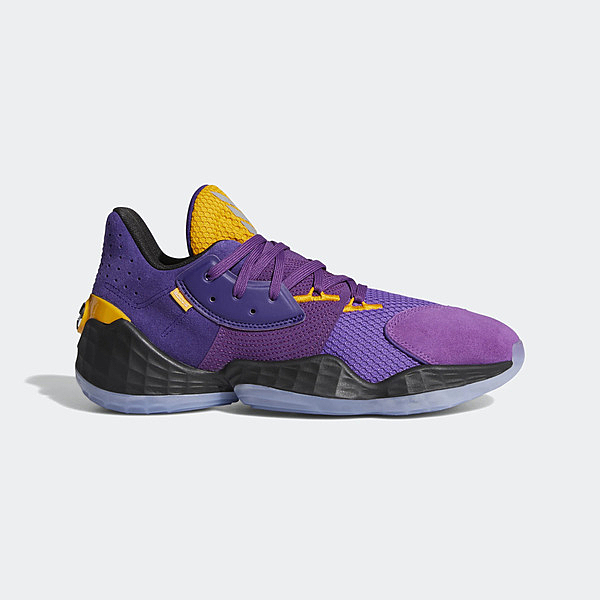 Adidas Harden Vol. 4 Gca [FW7496] 男鞋 籃球 運動 避震 哈登 輕量 愛迪達 紫 黃