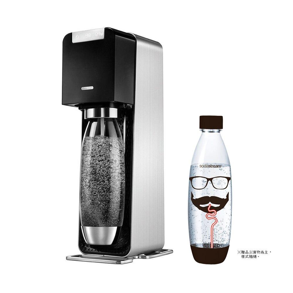 【特惠組★加碼送1L寶特瓶1支】Sodastream POWER SOURCE 電動式氣泡水機 -黑 [可以買]