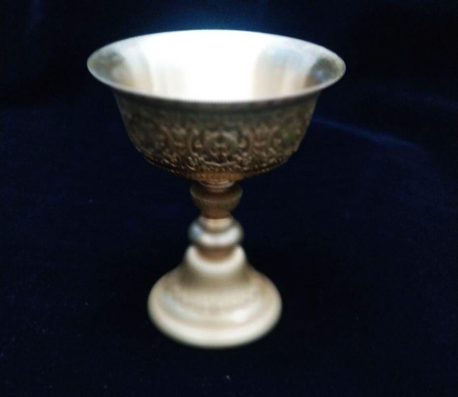 盛硯莊佛教文物手工酥油燈杯