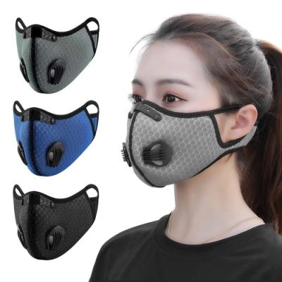 活力揚邑 透氣網雙氣閥可換活性碳濾芯防塵霾機車運動口罩