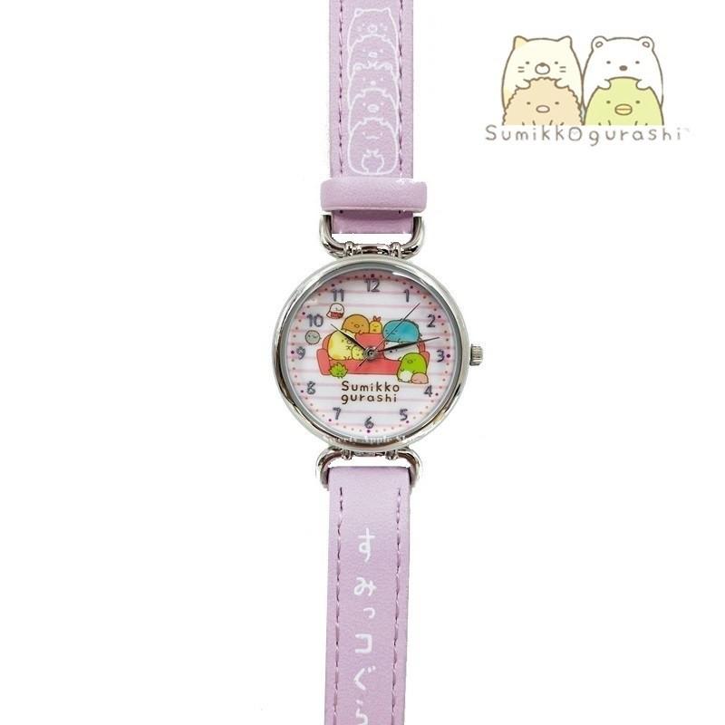 SAN-X 角落生物【 SAS日本限定 】沙發版 皮革腕錶 / 兒童手錶 (紫)