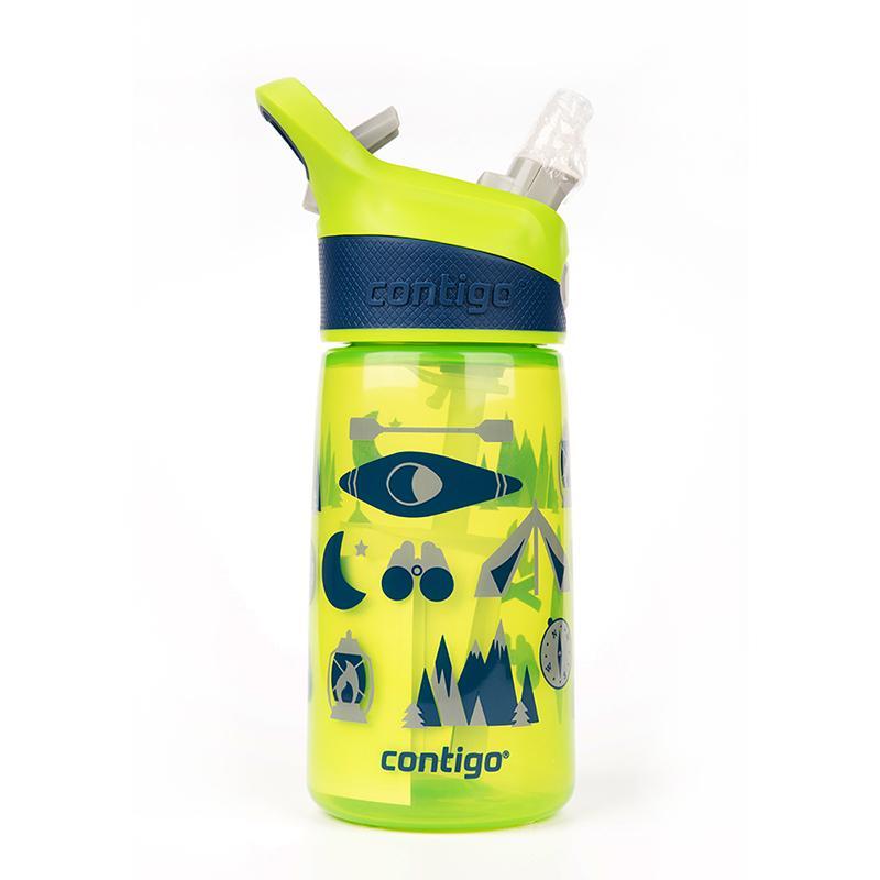 Striker兒童卡通水壺吸管杯414ml(露營款) 航海款