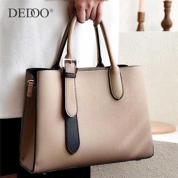 女士包包時尚大氣新款中年媽媽包簡約大容量手提包單肩斜背包