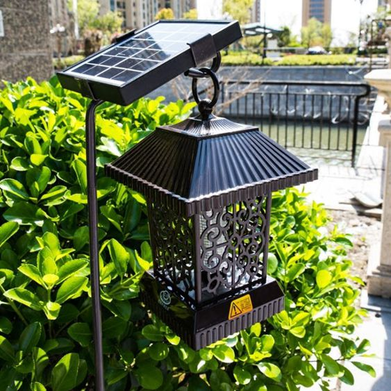 太陽能滅蚊燈戶外家用室外庭院驅蚊器花園捕蚊滅蚊神器防水商用