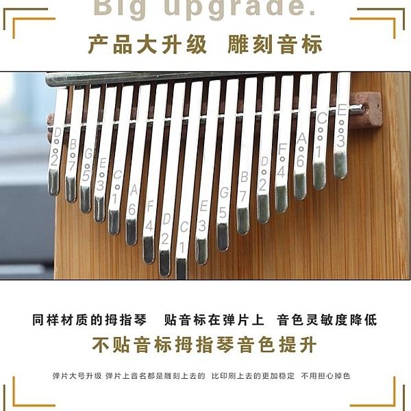 便攜式17音拇指琴kalinba卡林巴琴樂器定音手撥琴成人初學者入門 一木良品