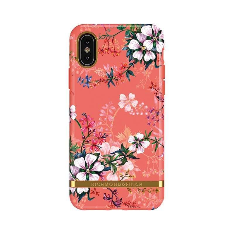 IPhone X (5.8吋) RF瑞典手機殼  金線框-夢幻珊瑚花
