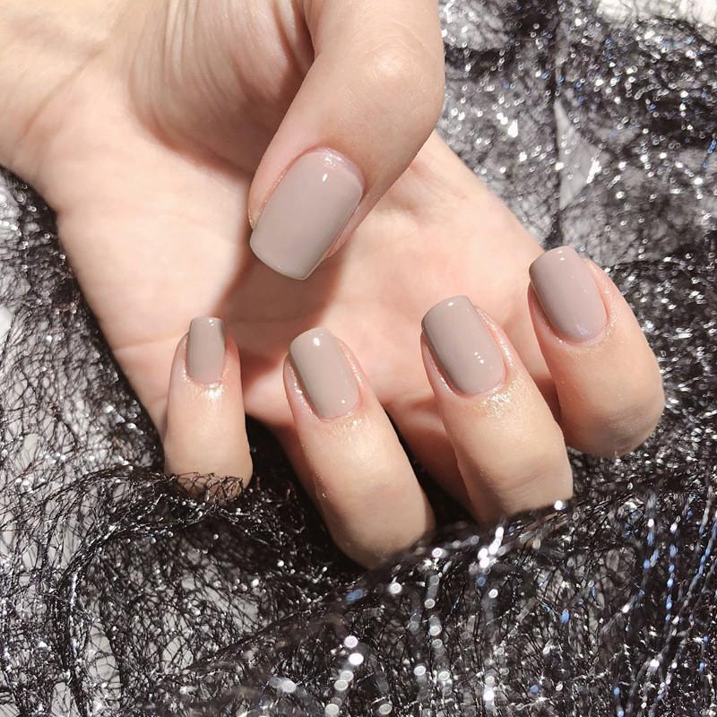 指甲貼片一撕即貼 秒貼甲片 粉裸純色 穿戴式 可重複使用 NWP0058【買1送5配件】