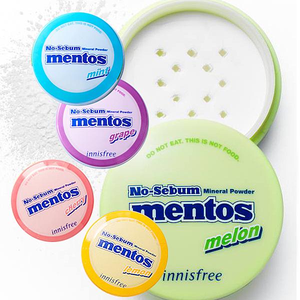韓國 Innisfree 曼陀珠礦物控油蜜粉 5g 顏色可選 mentos 聯名款【小紅帽美妝】NPRO