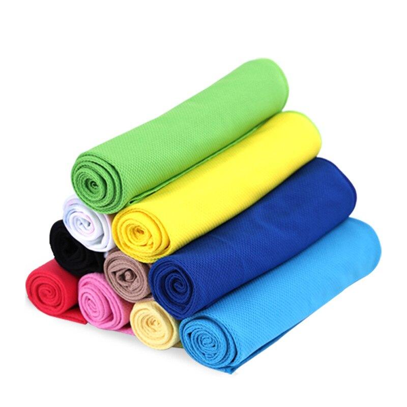 運動健身彩袋裝冷感雙色毛巾  1組3入 618購物節