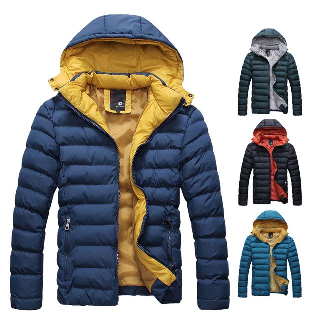 [現貨] 極致時尚配色特級保暖防寒鋪棉連帽外套帽可拆有大尺碼(四色)【QZZZ791】