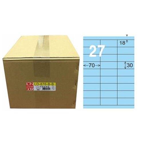 【龍德】A4三用電腦標籤 30x70mm 淺藍色1000入 / 箱 LD-876-B-B