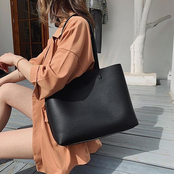 流行托特包包新款潮春夏時尚百搭手提包單肩包大包大容量女包 檸檬衣舍