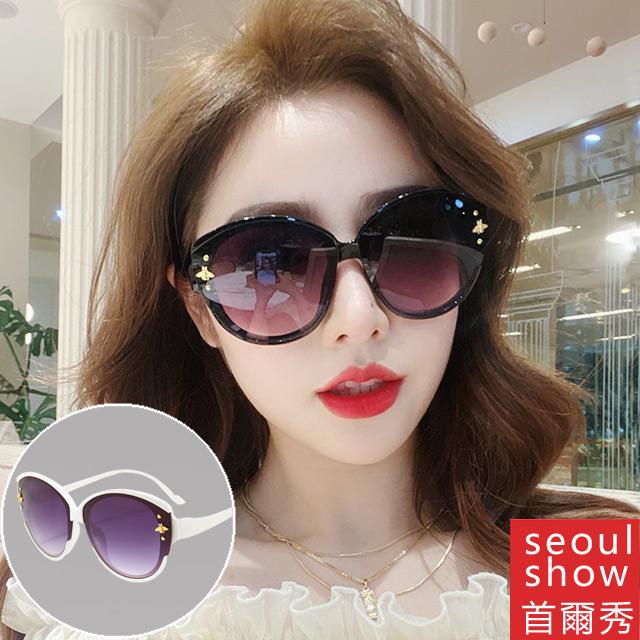 seoul show首爾秀 G牌金色小蜜蜂太陽眼鏡UV400墨鏡 5124