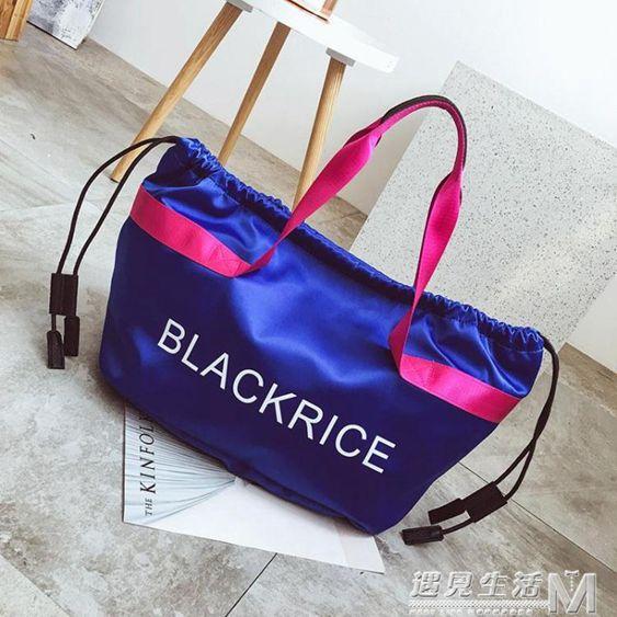 新款短途旅行包健身包單肩男女手提包旅游行李包運動包袋潮