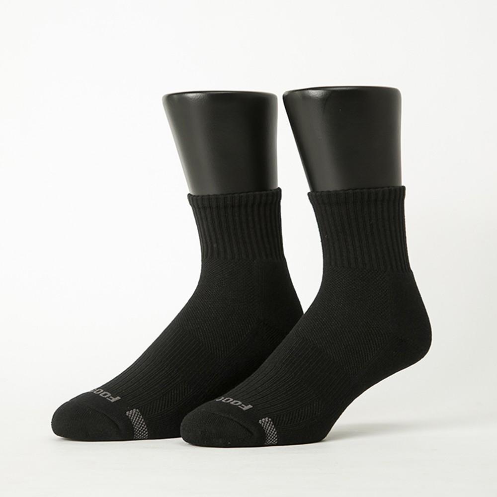 Footer單色運動逆氣流氣墊襪(男款-T11) 除臭襪 運動襪 健康襪