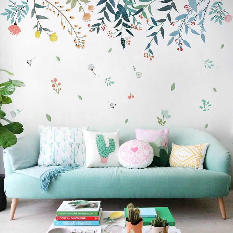 客廳臥室牆貼紙 壁紙 房間防水牆紙 自粘牆面裝飾貼畫背景