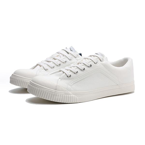 KANGOL 休閒鞋 全白 帆布鞋 男 (布魯克林) 6021200200