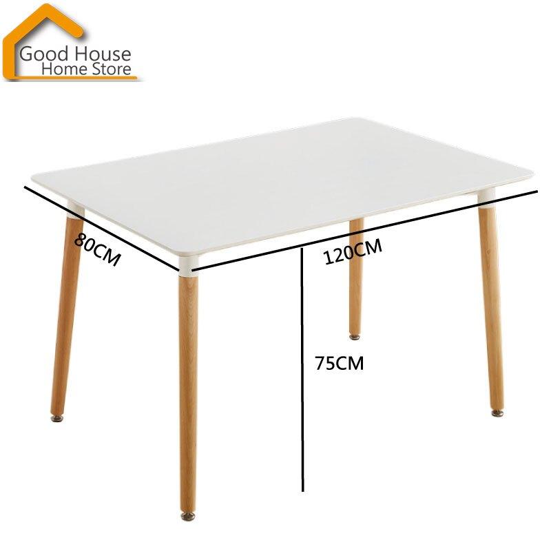 伊姆斯長桌 120*80公分 北歐DSW EAMES桌 長桌 餐桌 木腳桌【U26】《好宅居家百貨》