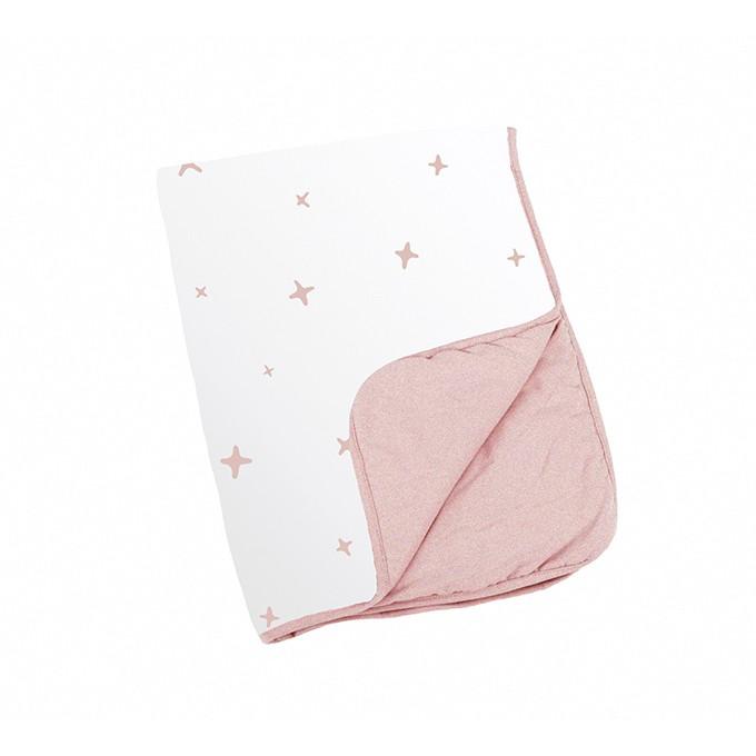 比利時 doomoo 有機棉蓋毯-粉星星DMDS56【衛立兒生活館】