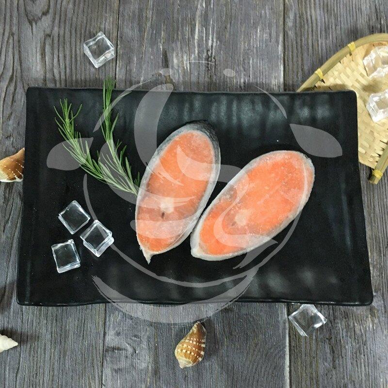 【九江】鮭魚薄切片(尾段)---鐵板燒、簡餐店鮭魚餐---✦