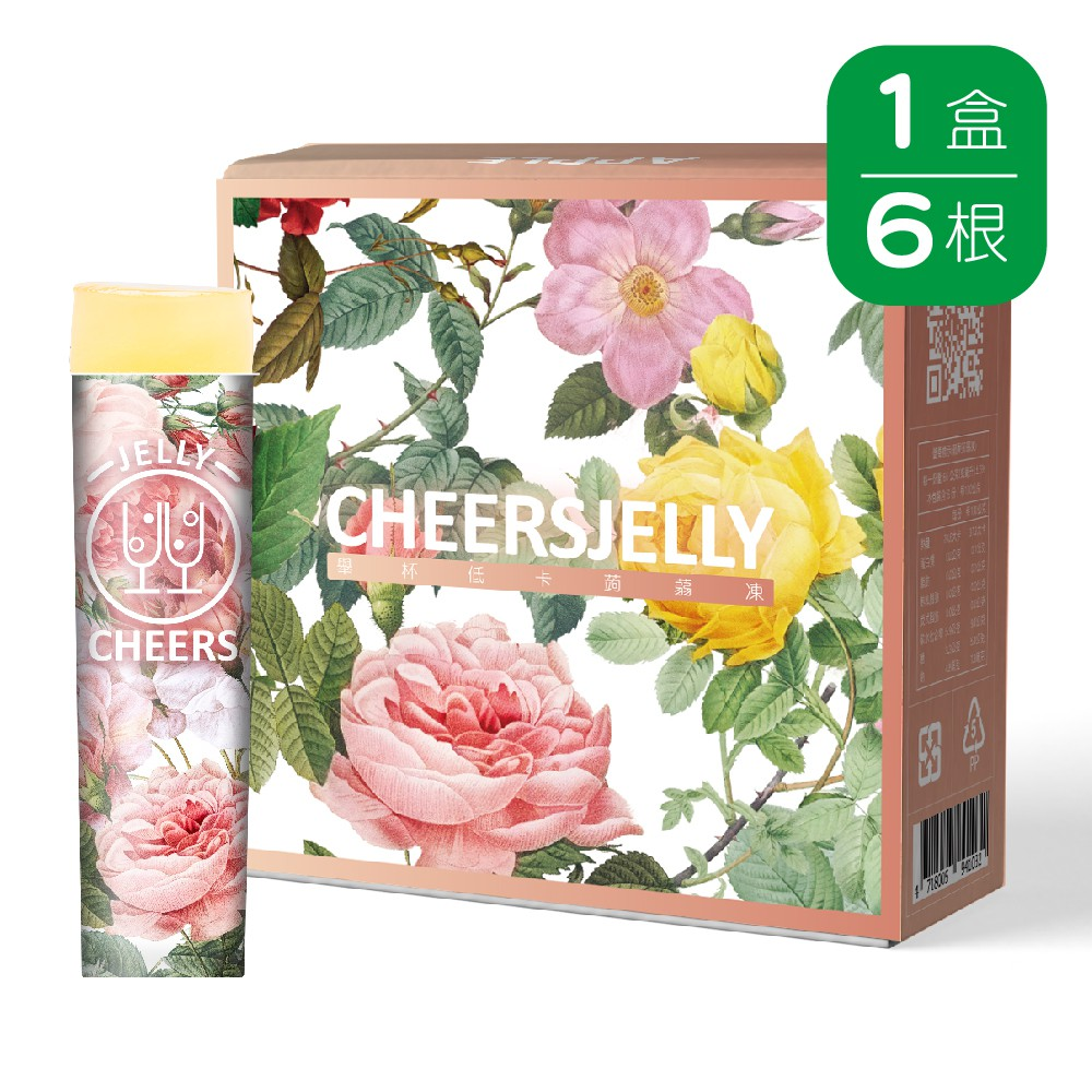 Cheersjelly舉杯低卡蘋果蒟蒻凍396g(1盒共6根入)