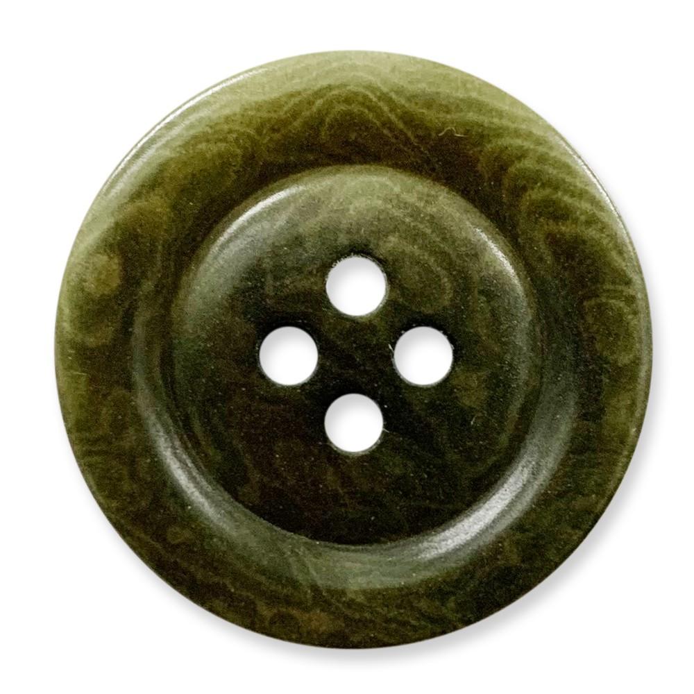 象牙果實釦 COROZO /4孔/ 6725 10號色/ 10顆/組 西服鈕釦 冷杉綠