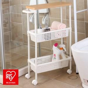 日本品牌 IRIS 浴室縫隙推車 木紋木頂板