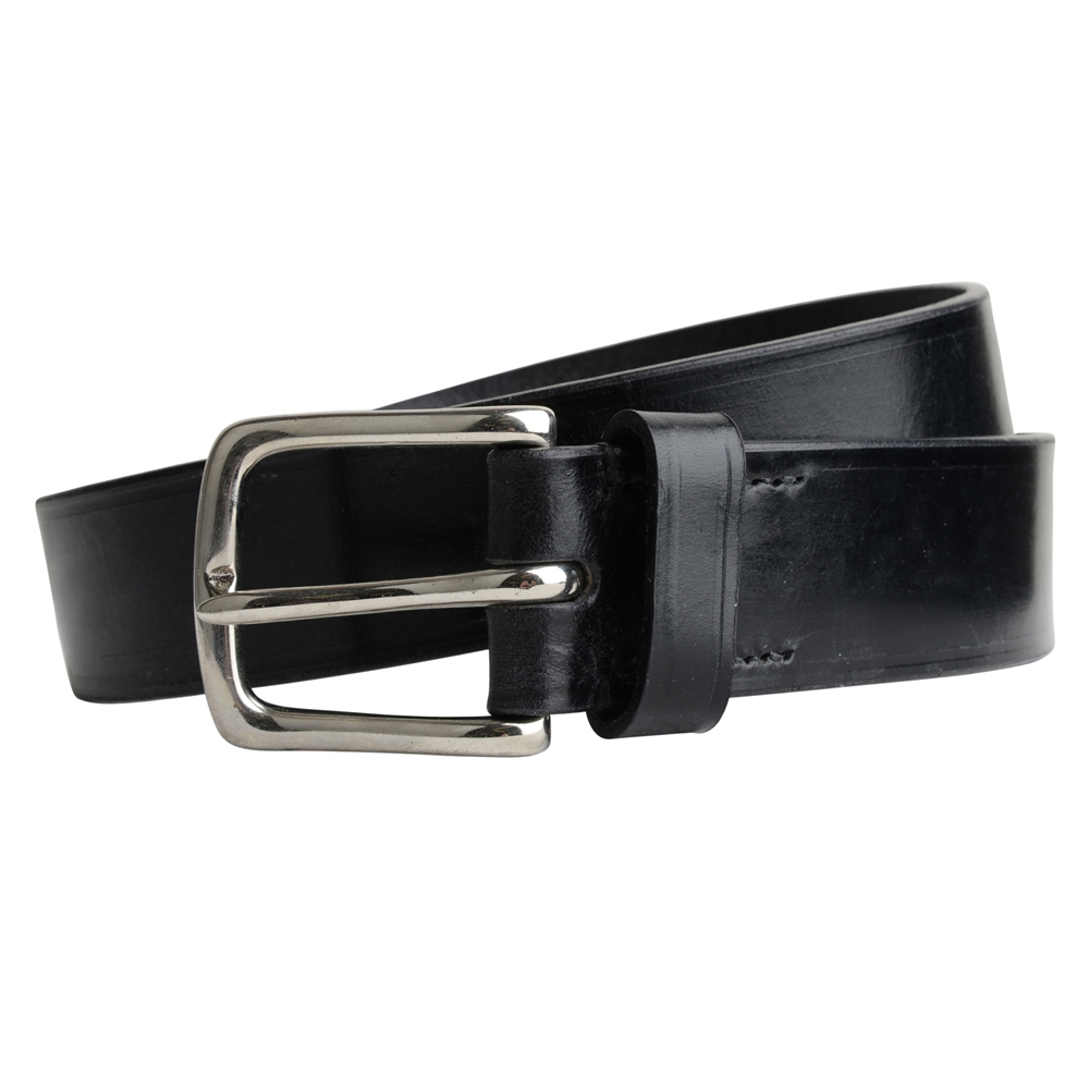 Magee 1866 Broadway Luxury Black Leather Belt
