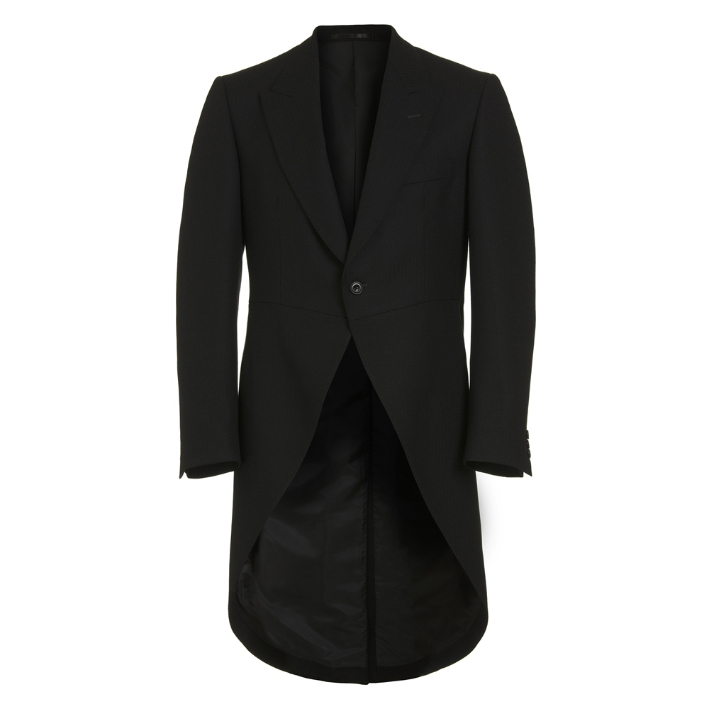 Magee 1866 Black Classic Fit Morning Suit Tail Coat