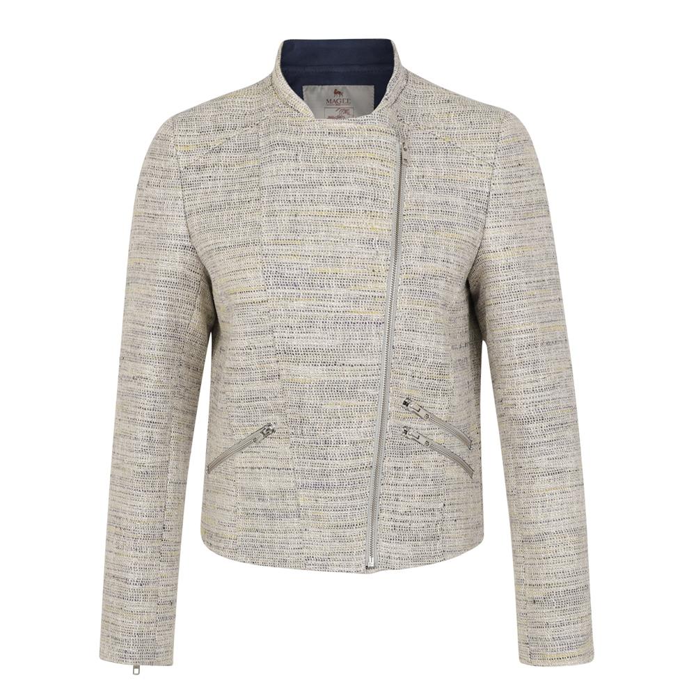 Magee 1866 Beige Ards Biker Donegal Tweed Jacket