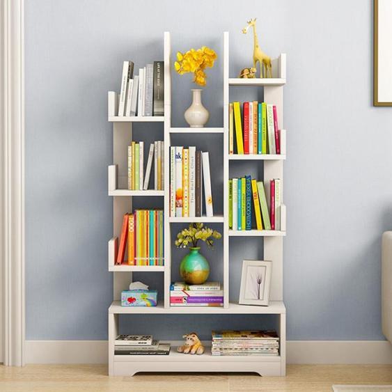 書架書櫃 蔓斯菲爾簡易樹形書架經濟型簡約現代落地置物架創意組裝書櫃