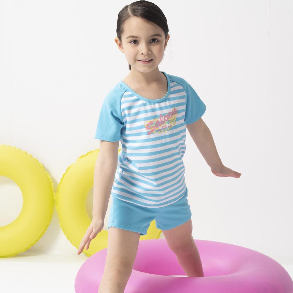 【SARBIS】女童兩截式泳裝 泡湯專用附泳帽B822010