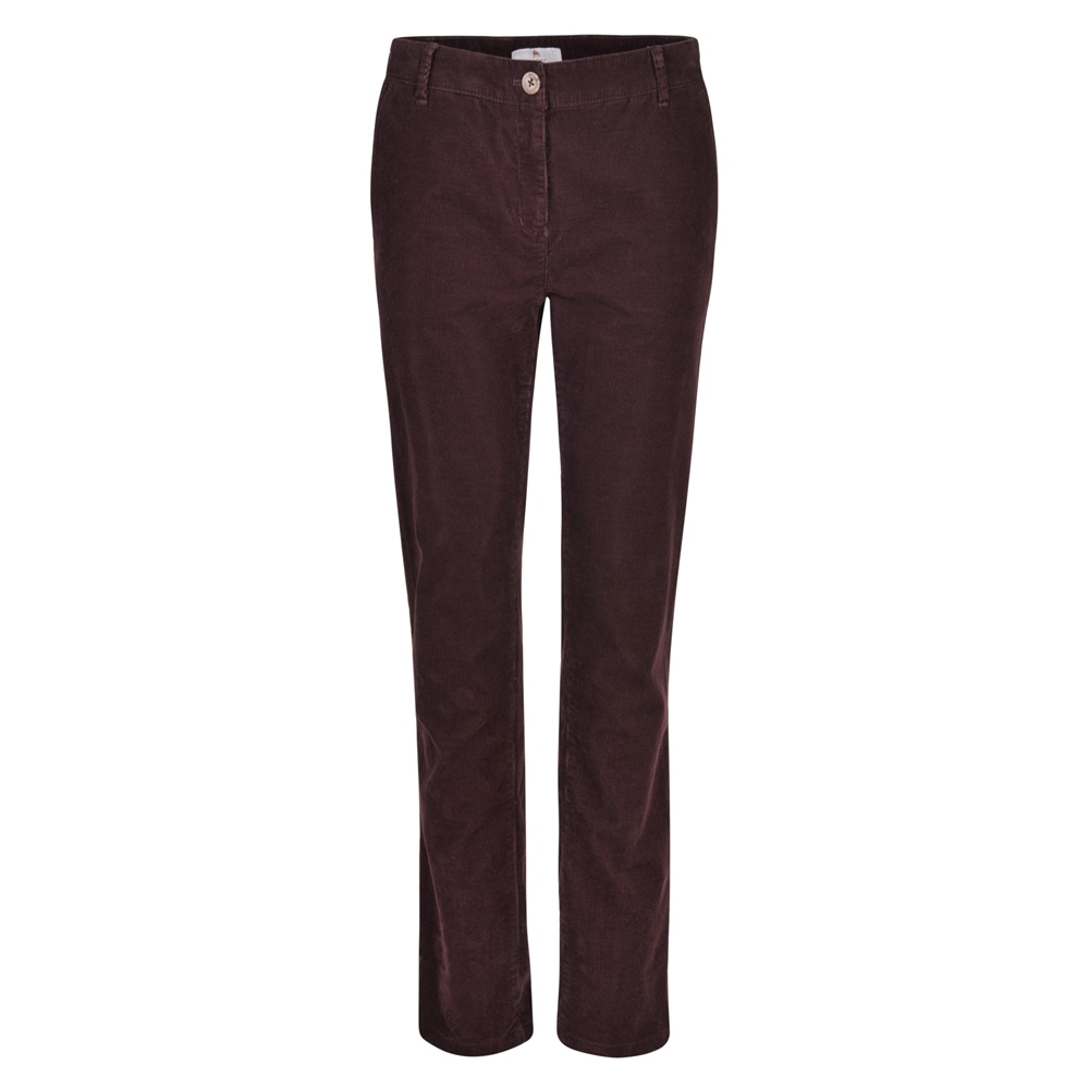 Magee 1866 Plum Sandy Washed Tailored Fit Chino